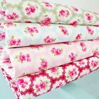 FLEUR ROSE - SMALL vintage retro  FLORAL COTTON FABRIC  SOLD PER METRE
