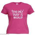 Magaluf Ladies Lady Fit T Shirt 13 Colours Size 6 - 16