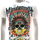 m199w Minute Mirth T-shirt Sz M L Tattoo LIMITED ED w/ BOX NIB Indian Skull Indy