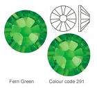 Fern Green (291) Swarovski foiled Elements flat back hot fix or glue on crystals