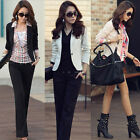 Womens Boyfriend One Button Suit Business Casual Tops Outerwear Blazer Jackets