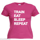 Gym Training Bodybuilder Slogan Ladies Lady Fit T Shirt Size 6 -16