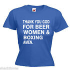 Beer Women Boxing Ladies Lady Fit T Shirt Size 6 -16