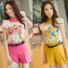 Korean Sweet Candy Color Mid-Rised Slim Womens Casual Shorts Hot pants Fashion