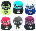 ADULTS MENS WOMENS LADIES NEW YORK NY STATE SNAPBACK HIP HOP BASEBALL CAP HAT