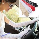 New Women' Lace Sun Block UV Protection Long Opera Evening Bridal Driving Gloves