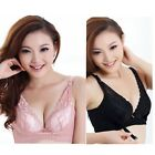 Womens Lady Front Closure Plunge Push Up Underwire U-Shape Brassiere Bra 34B 36B