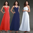 Stock Women Beaded Long Party Ball Gown Cocktail Prom Bridesmaid Evening Dress