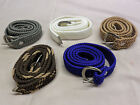 33 Inch Braided Nylon Web Belt- 1 Inch Wide - Adjustable - Washable- New