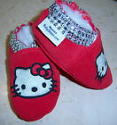 moxies chaussons en cuir et daim rouge hello kitty strass chaussons fait QUEBEC