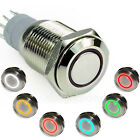 1pc Xbrights 16mm 12V LED Ring Metal Latching Push Button On/Off Switch New