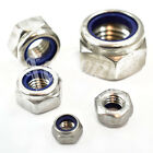 M2, A2 STAINLESS NYLOC INSERT NUTS, STANDARD PITCH, DIN985 NYLON LOCK NUT TYPE T