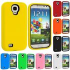 Hybrid Hard/Soft Case with Built in Screen Protector for Samsung Galaxy S4 SIV
