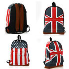 Backpack UK/USA National Flag Pattern Travel Journey Luggage Bag Tour Adjustable