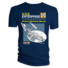 Official T Shirt STAR TREK Haynes ENTERPRISE Blue All Sizes
