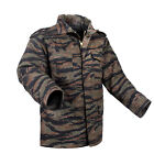 m65 camo jacket - M-65 Field Jacket Coat Tiger Stripe Camo with liner various sizes rothco 8713