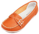 New Women's Mothers Genuine Leather Shoes Casual Slip-on Ballet Flats Oxfords