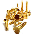 No.7, SOLID BRASS SLOTTED COUNTERSUNK WOOD SCREW, 7g GAUGE SCREWS, BS1210