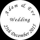 Personalised customised Wedding seals gold silver wax clear butterfly and more