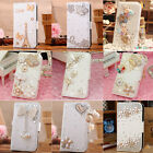 Luxury Diamond Heart Bow Crown PU Leather Case Cover For Samsung Galaxy S4 i9500