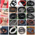 1PC Man Woman Unisex Friendship Surf Boho Hippie Braided Wrap Leather Bracelet