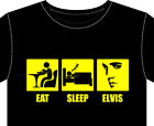Mens T-Shirt ELVIS fun gift eat sleep presley rock & roll vinyl record cd dvd