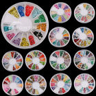 3D Multicolor Nail Art Decoration Tips 120 PCS Mixed Fimo Slice Pattern Wheel