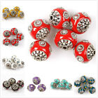 HOT Charms Multi-Colors Rhinestones Ball Faux Indonesia Loose Beads Fit Craft