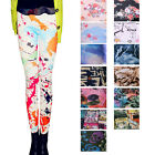 Women's Sexy Thin Retro Flower Rose Print Leggings Tights Pants,Rare