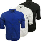 Mens Shirts Dissident Long / Short Sleeve Plain Shirt Designer Top S M L XL