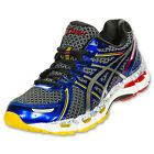 Asics GEL-Kayano 19 Running Shoes Black Lightning Blue T342N 091 Size 13 US Rare