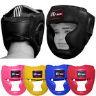 Junior Boxing Head Guard Head Protector Martial Arts Kids Children Rex Leather