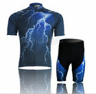 Cycling Bike Short Sleeve Clothing Bicycle Sportwear Suit Jersey + Shorts M-XXXL