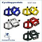 "Pair of Alloy 9/16""Mountain Road BMX Bike Cycling Flat Platform Pedals 5 Colors"