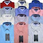 Tommy Hilfiger Dress Shirt Ithaca Regular Fit Mens Spread Point Solid Stripe New