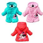 Girls Kid Minnie Mouse Winter Coat Warm Jacket 2-6Y Outwear Hooded Snowsuit Xmas