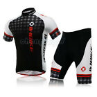Black Grid Cycling Bike Short Sleeve Clothing Bicycle Jersey + Shorts Set M-3XL
