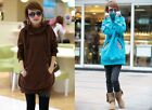 Womens Girl's Long Pattern Hoodie Coat Casual Hoody Sweatshirt Outerwear Tops