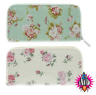 NEW FOREVER ENGLAND MARTHA OR MELISSA ROSE OILCLOTH HOLDALL WALLET PURSE