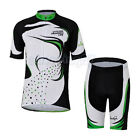 Green Grass Cycling Bike Short Sleeve Bicycle Women Jersey + Shorts Set S-2XL
