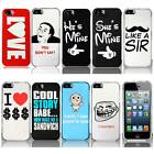 For Apple iPhone 5S 5 Funny Designs Protective Snap On Hard Case Cover