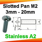 M2 Stainless A2 Slotted Pan Head Machine Screws