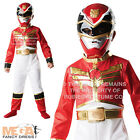 Power Ranger + Mask Boys Fancy Dress Superhero Megaforce Kids Childs Costume 3-8