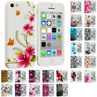 For Apple iPhone 5C Color TPU Rubber Design Gel Soft Skin Case Cover Accessory