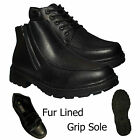 NEW MENS FORMAL CASUAL COMFORT ANKLE FAUX FUR LINED STYLISH BOOTS SHOES SIZES UK