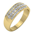 SI1/G 1.15 Ct Round Diamond White Gold Channel Set Engagement Wedding Ring Band