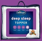 Silentnight Mattress Topper Quality Deep Sleep Straps Single Double King Super K