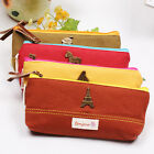 Korean Retro small universe canvas Stationery Bag/Makeup Pencil Case #1608