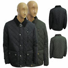 Mens Brave Soul Padded Diamond Nylon Quilted Coat Domino Stylish  Winter Jackets