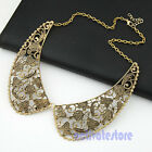 New Fashion Generous Retro Hollow Out Flower Popular Collar Bib Necklace Choker